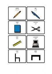 english worksheets english arabic school classroom vocabulary. Black Bedroom Furniture Sets. Home Design Ideas