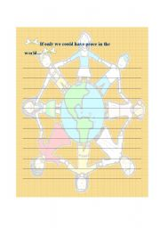 English Worksheets: A Peaceful World