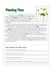 english worksheet making a garden. Black Bedroom Furniture Sets. Home Design Ideas