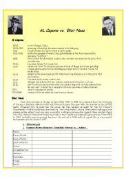 English Worksheets: Al Capone vs Eliot Ness