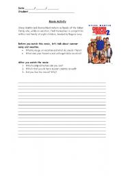 English Worksheets: Movie about family