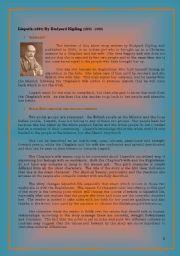 English Worksheets: Lispeth by Rudyard Kipling