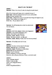 English Worksheet: PLAY -BEAUTY AND THE BEAST