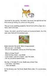 English Worksheet: BAMBI