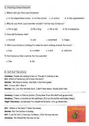 English Worksheets: Corduroy worksheet 2
