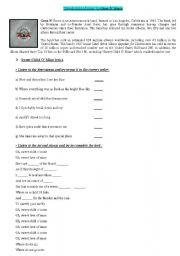 English Worksheet: Sweet Child of Mine