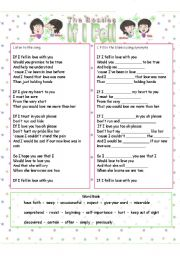 English Worksheets: The Beatles - If I Fell