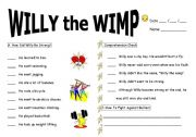 English Worksheets: Willy the Wimp