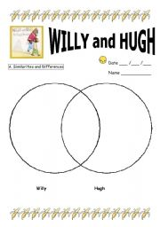 English Worksheets: Willy and Hugh