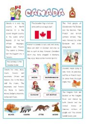 English Worksheet: ENGLISH-SPEAKING COUNTRY (2) CANADA