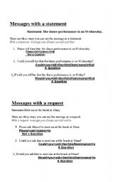 English Worksheets: Messages with ASk and Tell Part 2