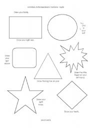 English Worksheets: Draw your body