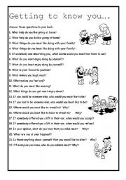getting to know you worksheet high school pdf