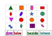 English Worksheets: Shape Grid