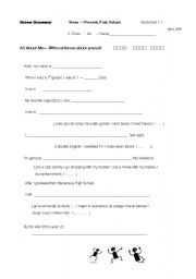 English Worksheets: Write about Me