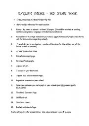 English Worksheets: My Year book
