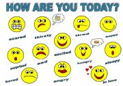 HOW ARE YOU  TODAY? - CLASSROOM POSTER FOR KIDS