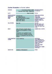 English Worksheets: cartas formales
