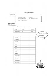 English Worksheets: 5 W�s: When?