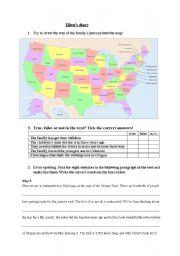 English Worksheets: Oregon Trail