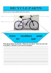 English Worksheet: Bicycle Parts