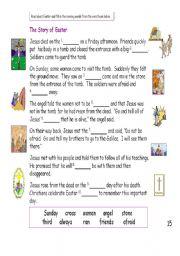 Printables Story Worksheets english teaching worksheets easter stories the story of easter