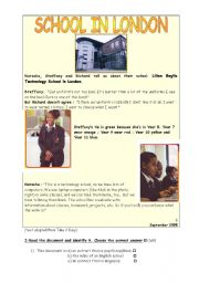English Worksheets: elementary  reading comprehension test