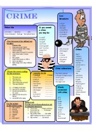 English Worksheet: Crime