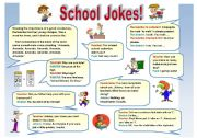 English Worksheets: SCHOOL JOKES!  - FOR TEACHERS AND STUDENTS!