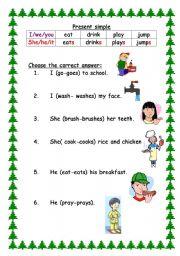 English worksheet: easy grammer