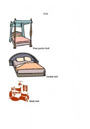 English Worksheets: types of beds