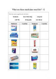 esl health worksheets