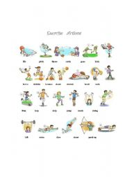 English Worksheets: Exercise  Actions