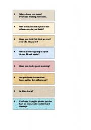 Present Perfect Continuous - Find your partner!