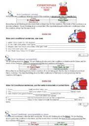 English Worksheet: CONDITIONALS Zero, 1st, 2nd, 3rd