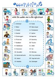 English Worksheet: Occupations from A to Z (3)
