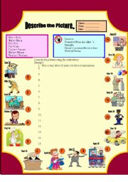 English Worksheets: Contractions: He�s She�s