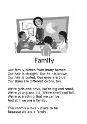 English Worksheet: Family Poem