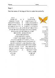 English Worksheets: Bugs 1