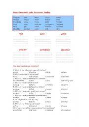 English worksheet: General Vocabulary