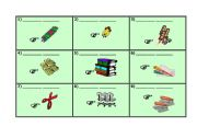 School Objects - Board Game - (part 1/3) -This and These cards