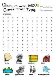 English Worksheets: Click, Clack, Moo: Cows that type