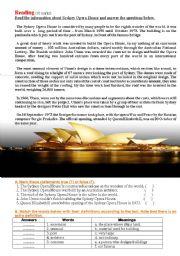 Reading: The Sydney Opera House