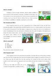 English Worksheet: Global Warming worksheet