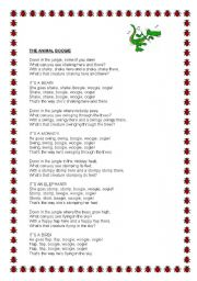 English Worksheets: The animal boogie