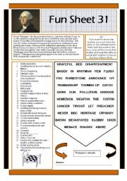 English Worksheets: Fun Sheet 31