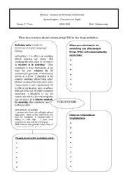 English Worksheets: volunteer