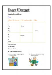 English Worksheets: don�t doesn�t