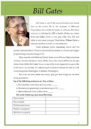 English Worksheet: Bill Gates