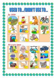 English Worksheets: USED TO /DIDN�T USE TO ...
